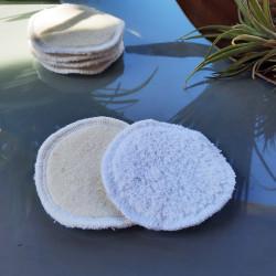 disques double face à démaquiller lavables