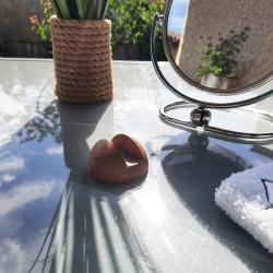 Porte-savon en forme de feuille avec savon Le Castillan