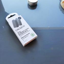 5 savons Le Castillan avec un porte-savon en forme de feuille artisanal en bois d'érable vosgien
