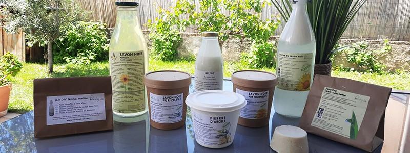 Copeaux de savon naturel à l'huile d'olive bio | Vert chez-soi