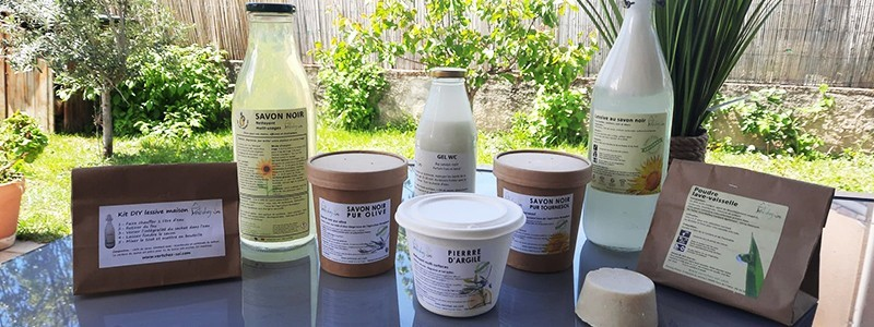 Copeaux de savon naturel à l'huile d'olive bio